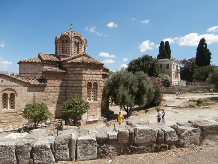 The church of Aghioi Apostoloi, within the site of the ancient Agora.