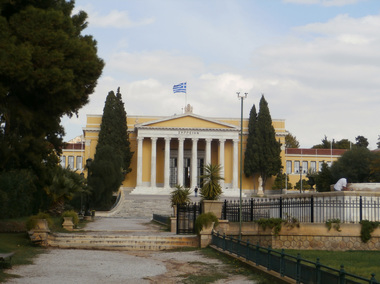 The Zappeion Hall building, as seen from Olgas Avenue.