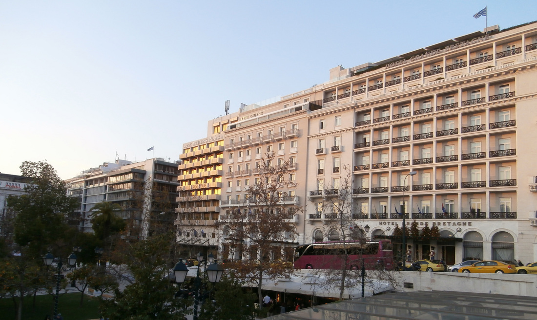 Hotel Row, Syntagma Square, Athens.
