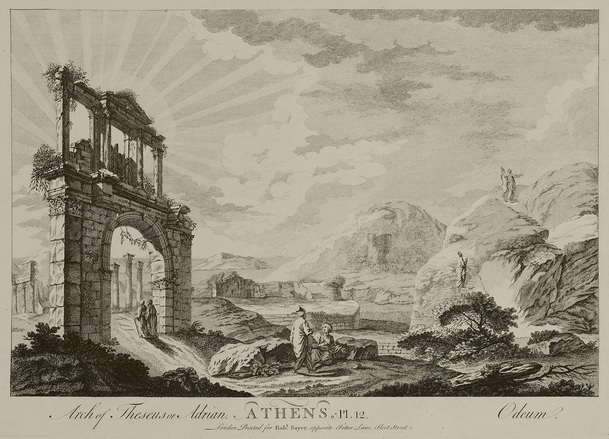 Hadrian's Arch, Athens, 1759