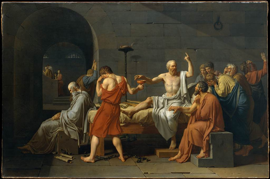 """The Death of Socrates"" by Jacques Louis David (French, Paris 1748-1825 Brussels) via The Metropolitan Museum of Art is licensed under CC0 1.0"