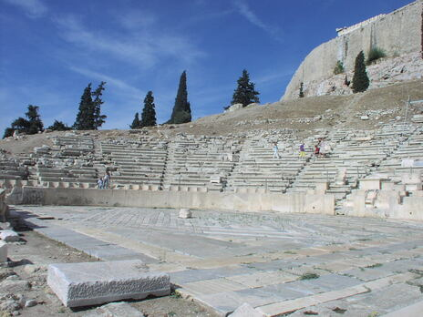 """The Theater of Dionyssos"" by Sébastien Bertrand is licensed under CC BY 2.0"