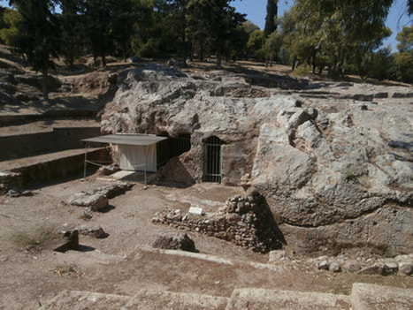 The Sanctuary of Pan, off the pedestrian street of Apostolou Pavlou.