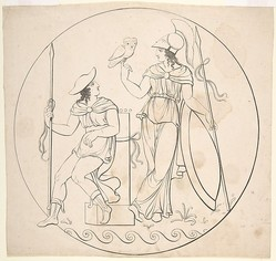 """Hermes and Athena"" 19th c. via The Metropolitan Museum of Art, licensed under CC0 1.0"