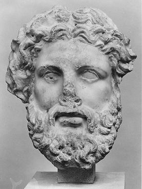 """Marble head of a god, probably Zeus"" by Greek via The Metropolitan Museum of Art is licensed under CC0 1.0"