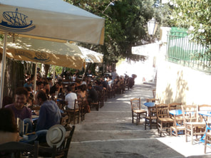 Coffee shops in Athens.