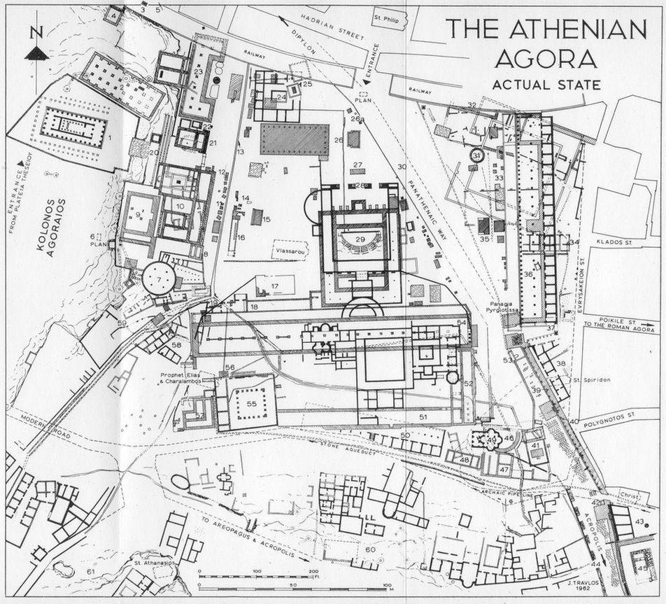 Map of the Athenian Agora site