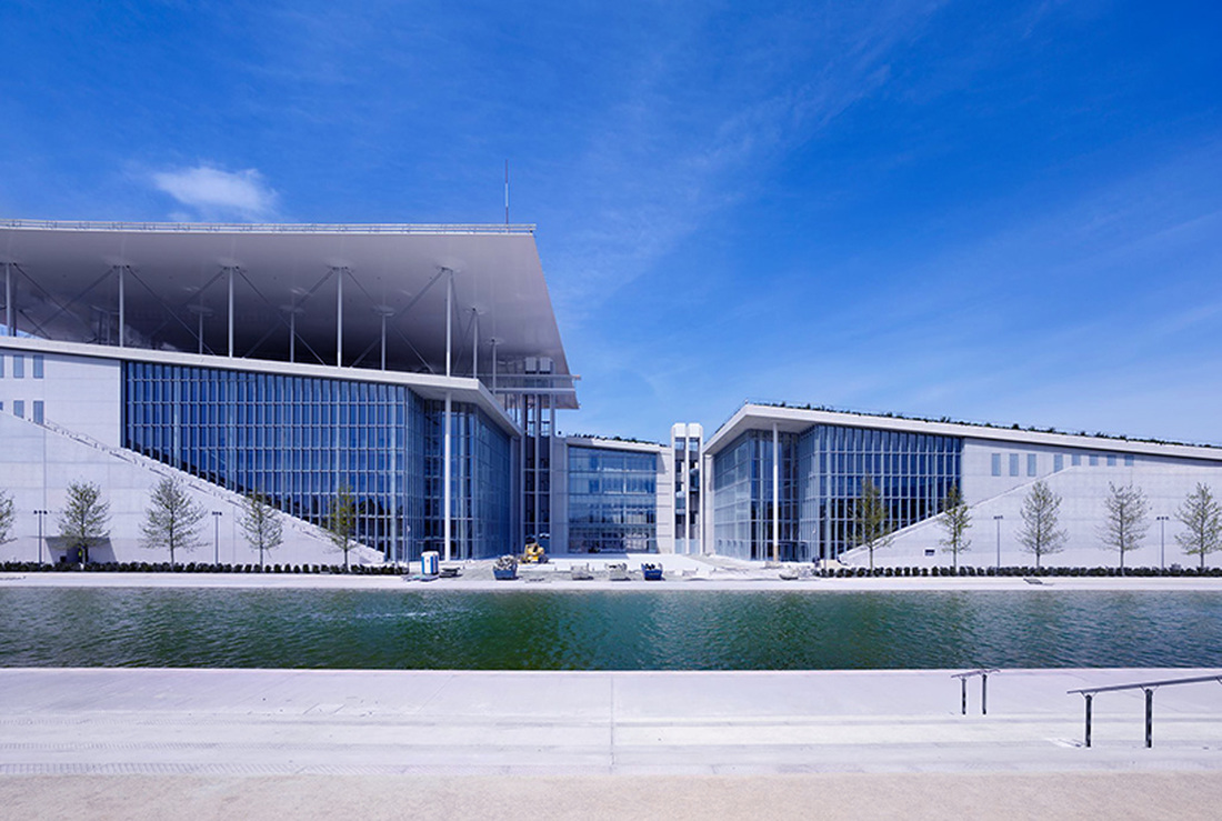 The new building of the National Library of Greece at the Stavros Niarchos Foundation Cultural Centre. © Stavros Niarchos Foundation