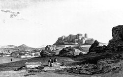 'Athens - North Side of the Acropolis from the Foot of the Areopagus'.  A Classical and Topographical Tour Through Greece, During the Years 1801, 1805, and 1806 - Edward Dodwell