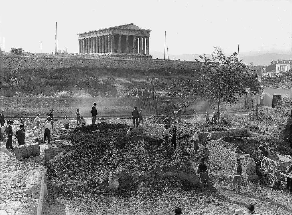 West side of the Agora, section Ε, on the afternoon of May 25, 1931, the first day of excavations in the section. Credit: ASCSA