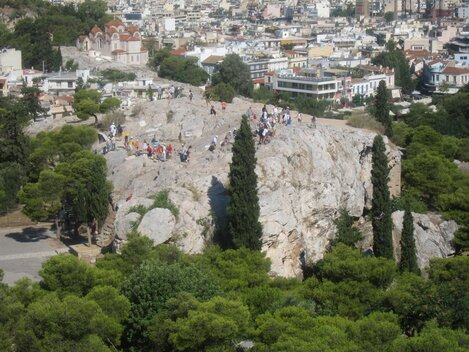 Areopagus , Athens.
