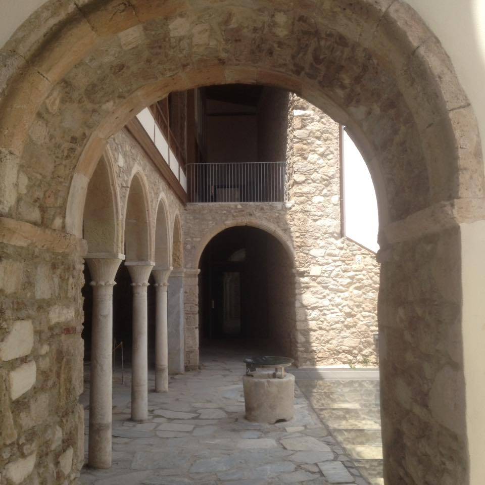 The courtyard, the house of Agia Filothei.