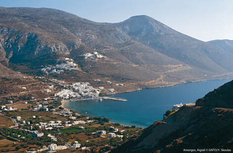Aigiali, Amorgos. Photo courtesy of GNTO by Y. Skoulas.