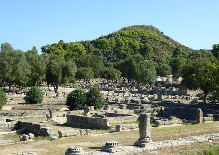 The ancient site of Olympia.