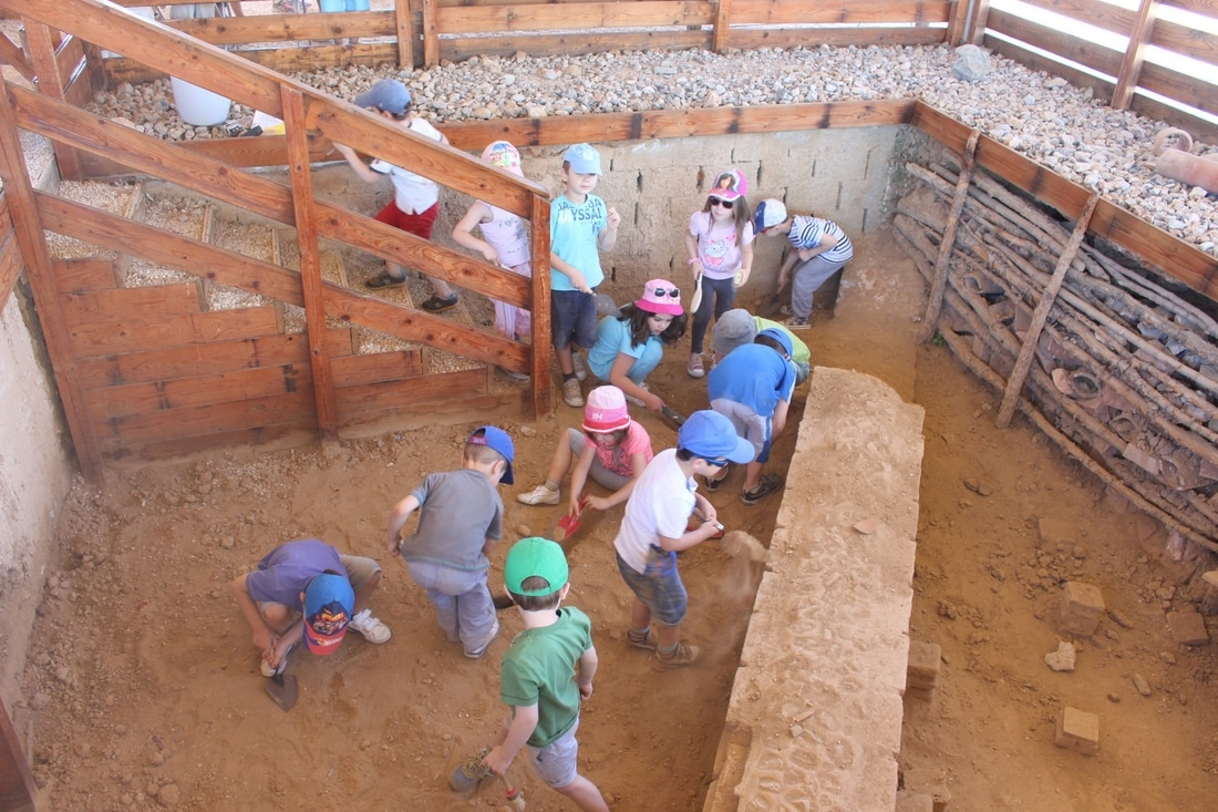 The archaeological excavation process educational program within the