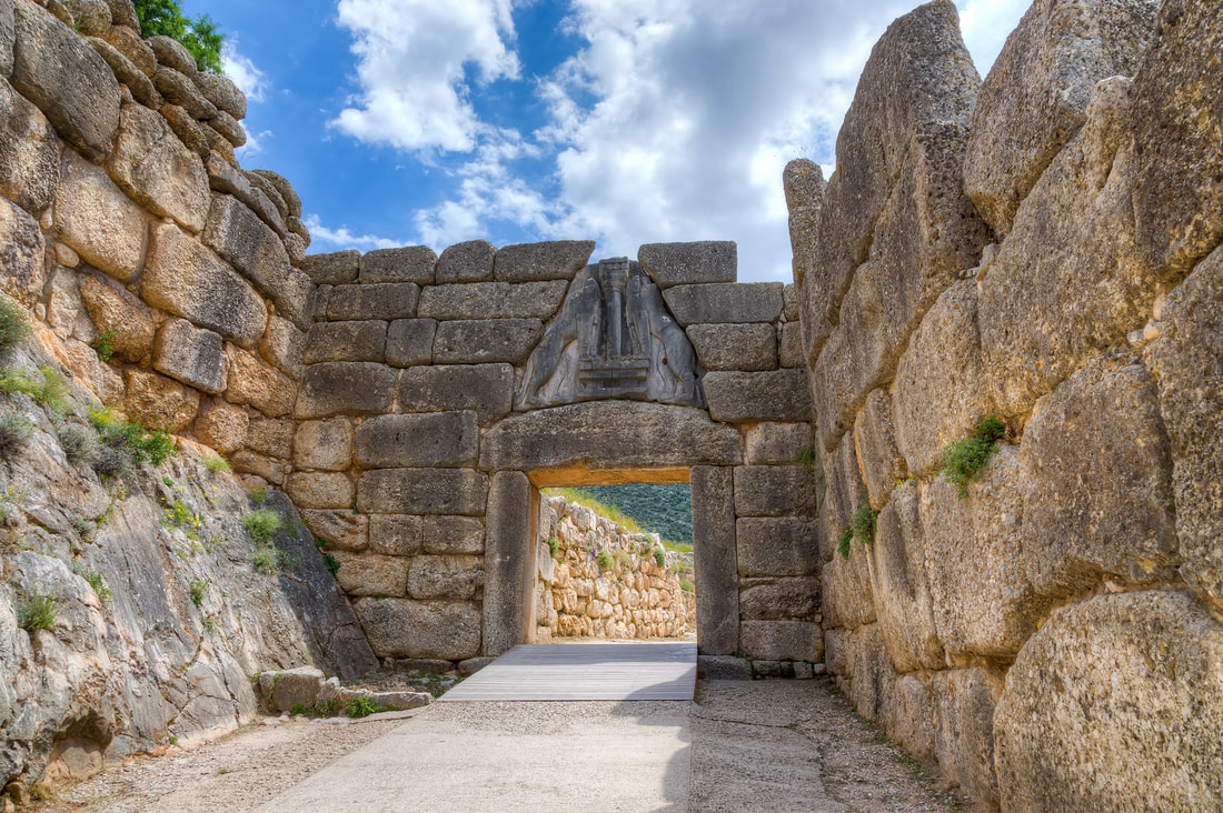 The Lions' Gate, at Mycenae.