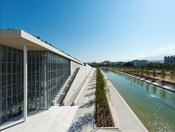 National Library. South view of the water canal. © Stavros Niarchos Foundation