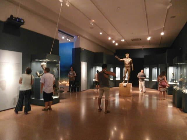 Exhibits from the Antikythera Shipwreck exhibition.