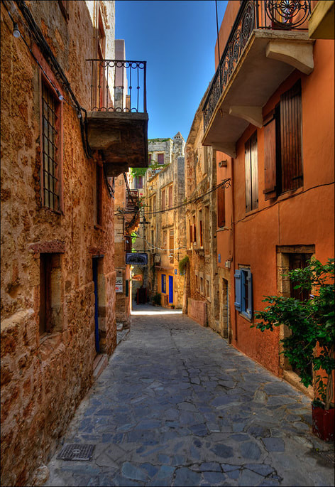 """Streets of Chania"" by Romtomtom is licensed under CC BY 2.0"