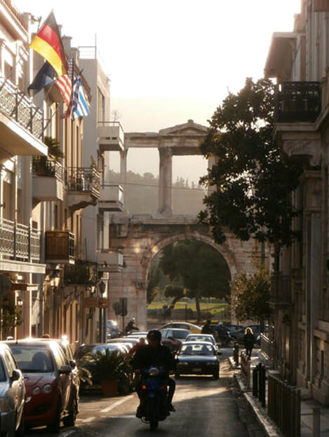 Hadrian's Arch, Athens.